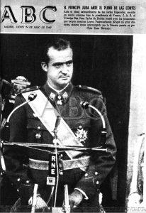Juan Carlos de Borbón nombrado Príncipe