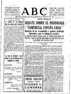 Protocolo comercial España-URSS
